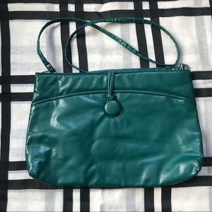 Vintage Green 80's Shoulder Bag Clutch Purse